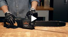 Learn how to adjust your electric chainsaw chain or install a replacement chain.