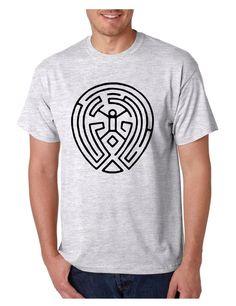 Men's T Shirt Maze Map Black Print TV Show Cool Tee Shirt Fans #westworld #maze #tvshow #tvseries #tshirt