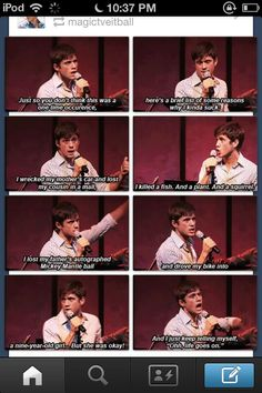 Aaron Tveit being adorkable <3