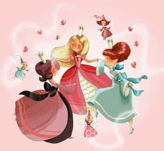 la fiancée au beurre salé: des princesses et des fées