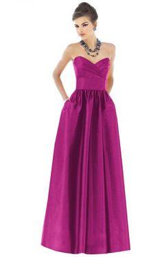 Custom Made Satin Fuschia Bridesmaid Dresses BNNAK0091-Bridesmaid UK