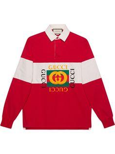 860186aa52f2b3 GUCCI GUCCI OVERSIZE COTTON POLO WITH GUCCI LOGO - RED.  gucci  cloth  Margiela