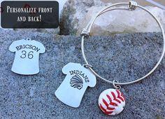Sport Bezel Mom Grandma Bracelet made from real by myheartsaKEs Baseball Mom, Softball, Soccer, Stairway Railing Ideas, Christmas Stuff, Christmas Ideas, Front Teeth, Mom And Grandma, Sports Mom