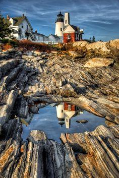 helena30:    Pemaquid Point Lighthouse, Bristol, Maine, USA. By: Len Saltiel ♥  500px.com