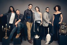 With the Beauty and the Beast Cast - Disney Photoshoot 2017 by Art Streiber