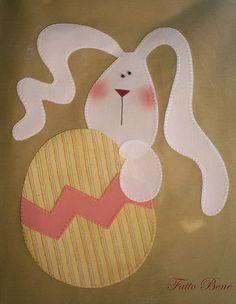 Bunny tea towel - Art to heart could be a cute mug rug