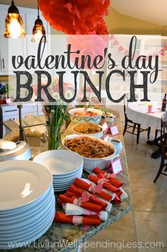 Think throwing a fabulous gathering has to cost a fortune?  Think again!  This gorgeous Valentine's Day brunch came together for less than $50!