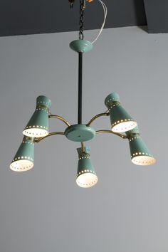Pierre Guariche attributed, Lacquered Metal chandelier, 1950s.