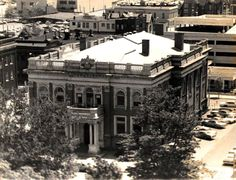 Erie Public Library taken from the roof of Hotel Richford in the early '70s.