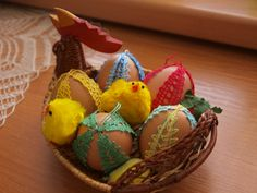 My first bobbin lace easter eggs