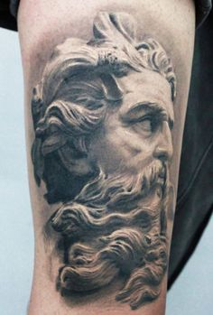 Tattoo Artist - Darwin Enriquez - Statuary tattoo