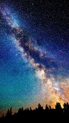 nature sky night scenic view sci fi science fiction stars galaxy milky way dust color trees mountain forest Night Sky Stars, Night Skies, Starry Night Sky, Night Light, Beautiful Sky, Beautiful Places, Beautiful Moments, Night Photography, Nature Photography