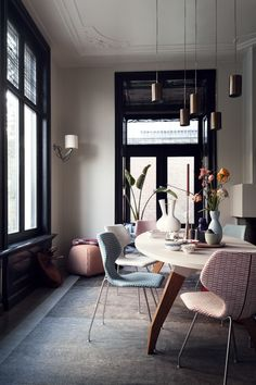 dining room styling with Cavalletta chairs by Roderick Vos | from Design on Stock