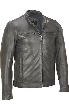 Black Rivet Distressed Open-Bottom Leather Jacket - #WilsonsLeather #leather