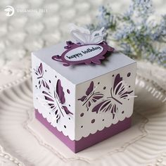 Butterfly Favor Box (Free SVG)