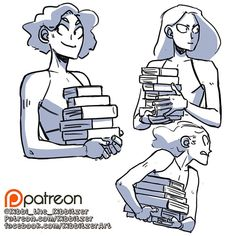 Holding books reference sheet -preview-
