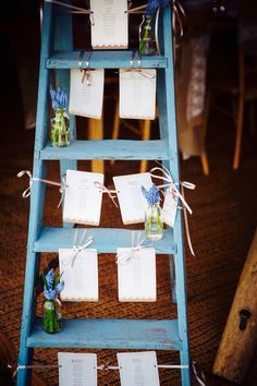 Wedding seating plan vintage ladder by JBCreatives