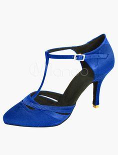 Round Toe Satin Professional Latin Shoes