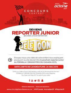 Become Junior Reporter - Grand Prix du Canada - Formula 1 Montreal | Circuit Gilles-Villeneuve