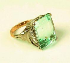 Art Deco platinum and topaz ring