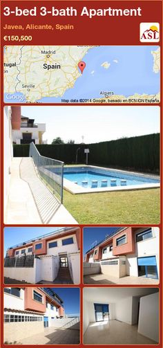 3-bed 3-bath Apartment in Javea, Alicante, Spain ►€150,500 #PropertyForSaleInSpain