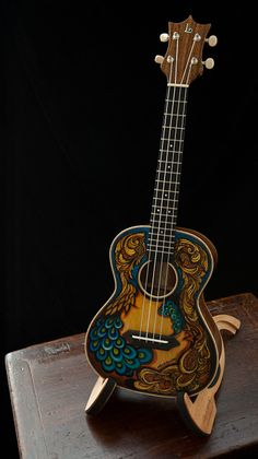 Painted ukulele, built by luthier Jay Lichty   Gorgeous.