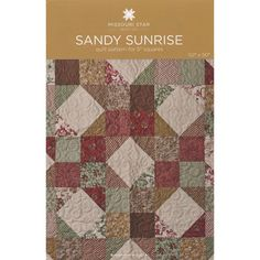 Sandy Sunrise Pattern by MSQC - MSQC - MSQC