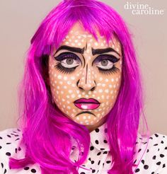 Rock a comic book girl look this Halloween! Try this 3D makeup design by Ivy Boyd that will make you look like you just stepped out of a comic book. Find the tutorial here! Get more makeup tips from Ivy atWake Up for Makeup!