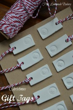 Air drying clay tags, perfect for Christmas packaging!