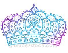 Hand-Drawn Sketchy Princess Tiara Crown Doodle Drawing Vector Illustration by blue67design by blue67design, via Flickr