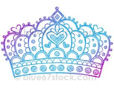 Hand-Drawn Sketchy Princess Tiara Crown Doodle Drawing Vector Illustration by blue67design by blue67design, via Flickr