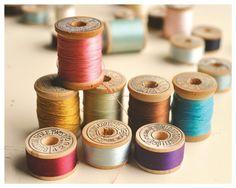 Vintage bobbin colours