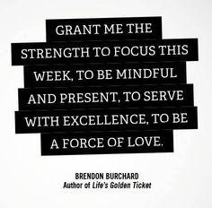 Brendan Burchard Quote - Monday Message