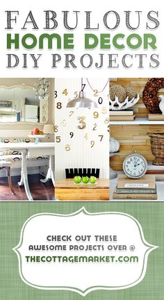Fabulous Home Decor DIY Projects