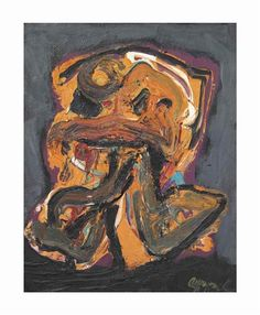 Karel Appel - Small Figure no. 11, 1988, oil on canvas
