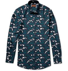 TOD'S Cloud-Print Silk-Twill Shirt. #tods #cloth #casual shirts