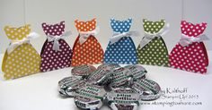 Polka Dot Party Dresses for Spring - peppermint pattie candy holders Candy Crafts, 3d Paper Crafts, Fashion Show Party, Origami, Polka Dot Party, Dress Card, Peppermint Patties, Spring Crafts, Diy Craft Projects