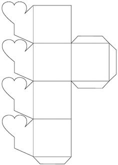 """pattern for DIY: box from Cereal Box with """"heart closing""""- by Stuff You Can't Have:"""