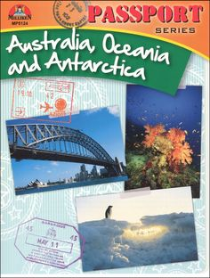 Passport Series: Australia, Oceania and Antarctica | Main photo (Cover).     Looks like a great book series for supplemental ideas on each country we'll study this year!