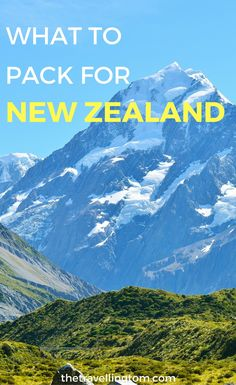 New Zealand packing list. If you want to know what to wear in New Zealand, this is the post for you! Find out what to pack for New Zealand in summer and all seasons. The best items to take to New Zealand!  New Zealand packing list in winter | New Zealand packing list in spring | New Zealand packing list fall | New Zealand travel tips | bucket lists | Items to take to New Zealand | Travel Gear | things to pack for New Zealand | New Zealand travel #newzealand #travelgear #packinglist