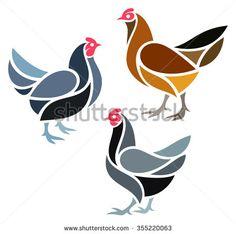 Stylized Chicken - Hens