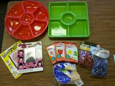Dollar Tree finds turned into classroom center activities!