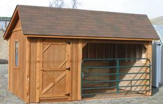 Horse Barn with Tack Room. I would probably have this enclosed though. During the winter time in MN.