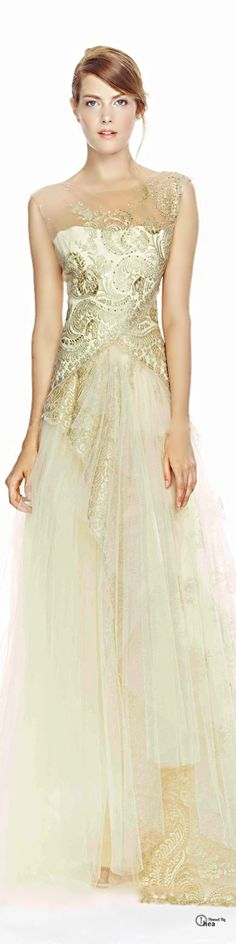 This Marchesa Notte dress from their SS 2014 range is a stunning choice for a formal wedding.