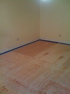 DIY plywood flooring--GREAT tutorial
