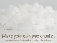 how to make wax chunks