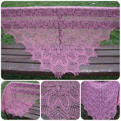 "Мир моего творчества: Шаль ""Шаловливая маргаритка"" Baby Knitting, Lace, Modern Crochet, Crochet Bedspread, Shawl, Tejidos, Tricot, Baby Knits, Racing"