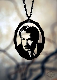 I just gifted myself this necklace - Vincent Price portrait from Fable and Fury