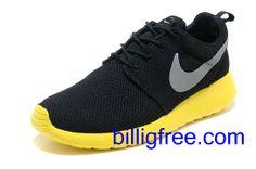 Verkaufen billig Schuhe Herren Nike Roshe Run (Farbe: vamp, innen - schwarz, logo - grau; Sohle - gelb) Online in Deutschland.