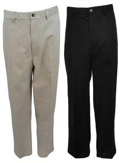 Haggar Mens Premium Dress Khaki Pants 40 42 Flex Waistband Chino 100% Cotton NEW #Haggar #KhakisChinos